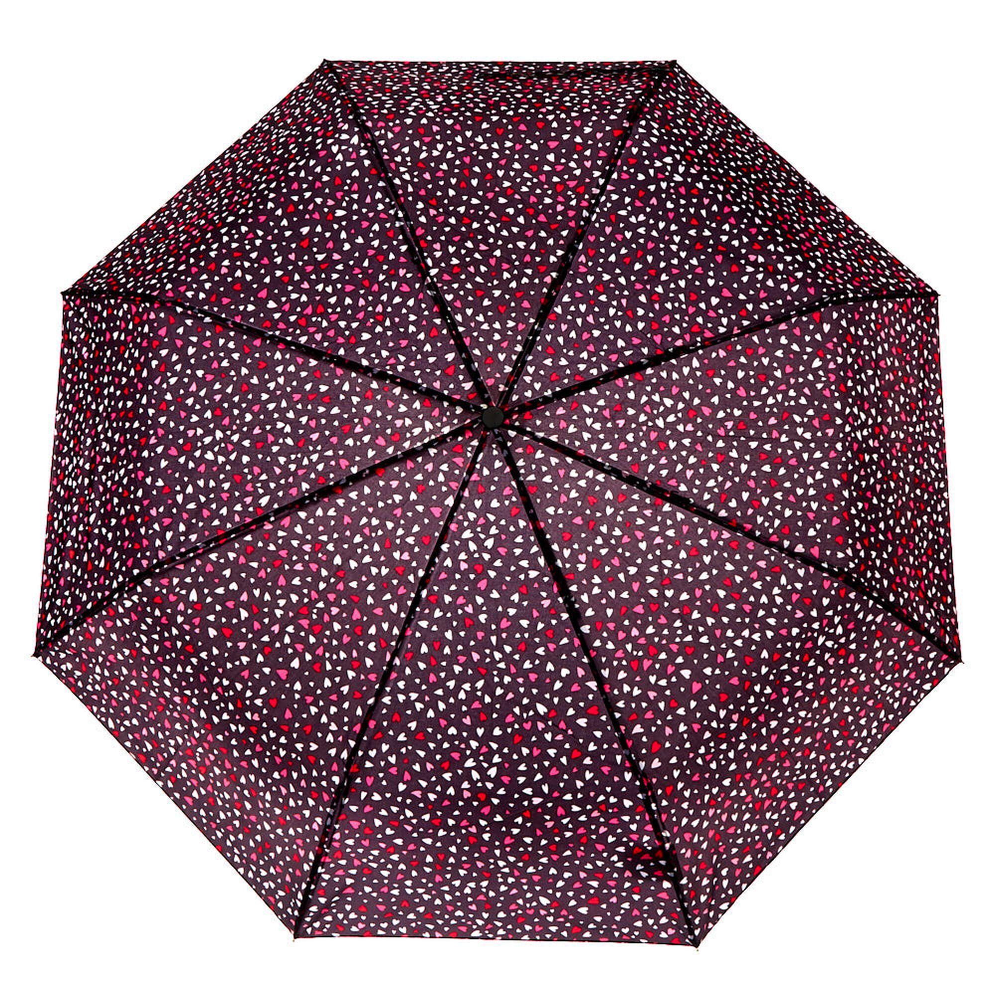 Claire's Love Hearts Umbrella - Black