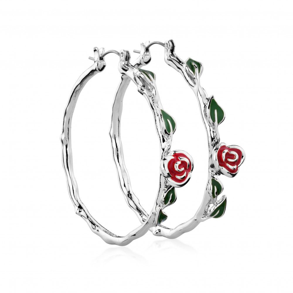 Disney Beauty & the Beast White Gold-Plated Enchanted Rose Bracelet zDJPvjhsHo