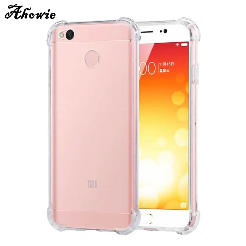 Find More Fitted Cases Information About Ahowie Crystal Clear Shock Absorption Bumper Soft Tpu Cover Case For Xiaomi Redmi 4x 4 Pro 4a N Case Cover Case Xiaomi