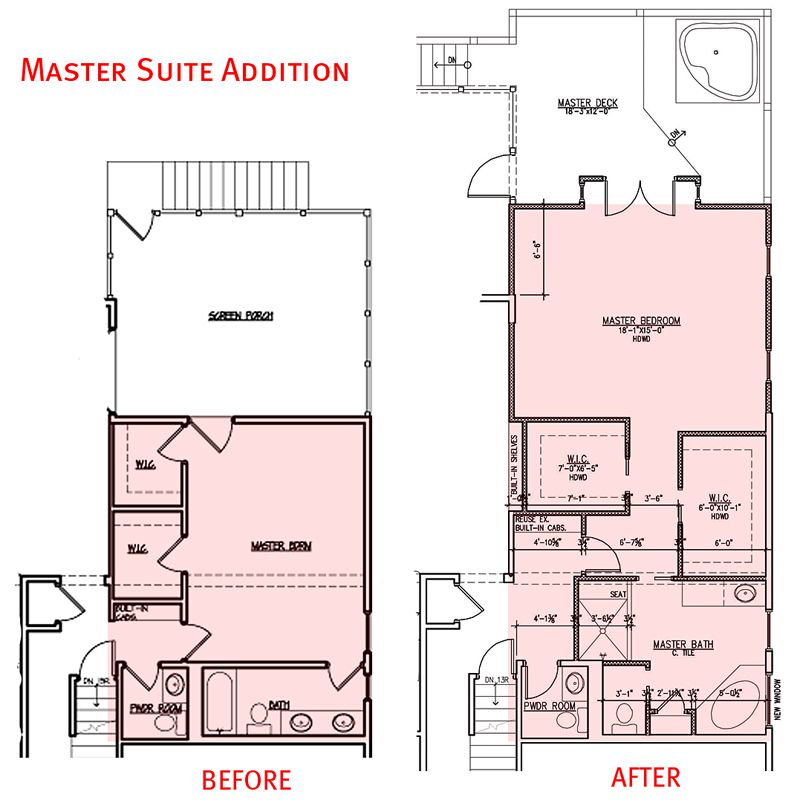 for Master suite addition floor plans