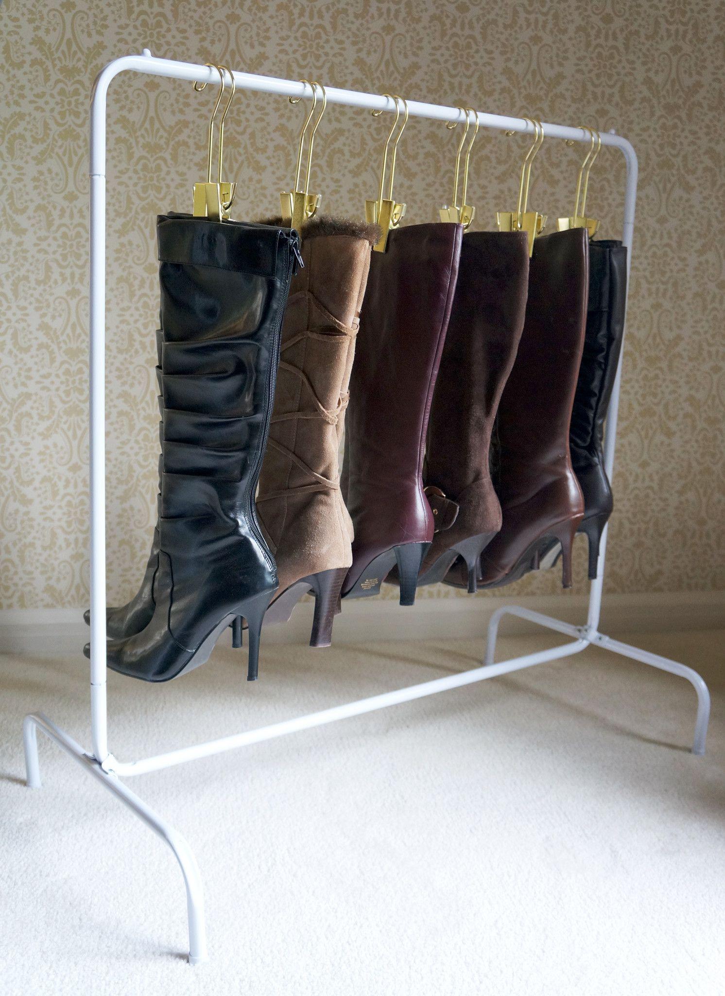 The Boot Rack™ (White Rack + 6 Boot Hangers) Boot