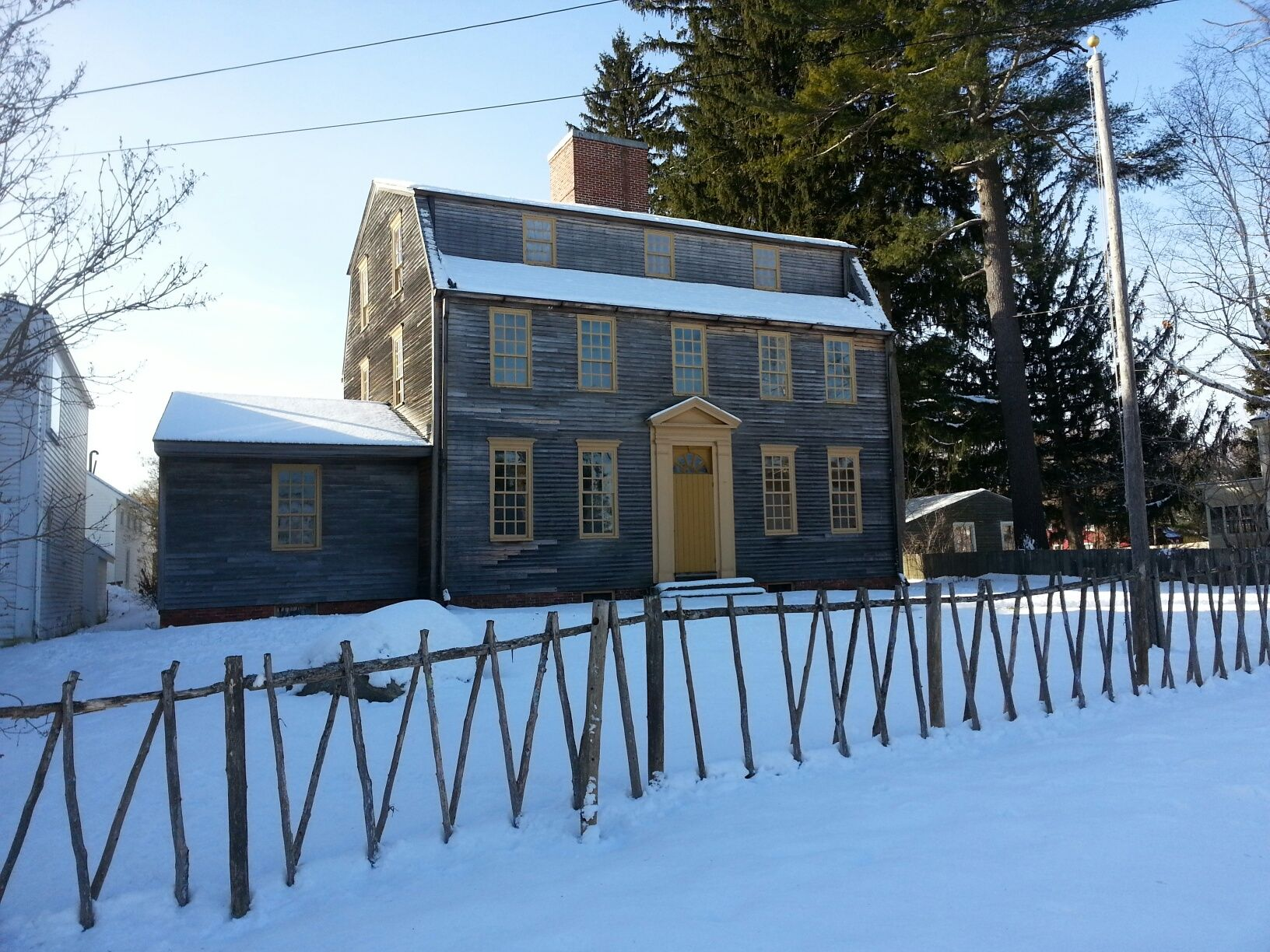 the tate house is located in stroudwater village  portland  me  built in 1755 for george tate is