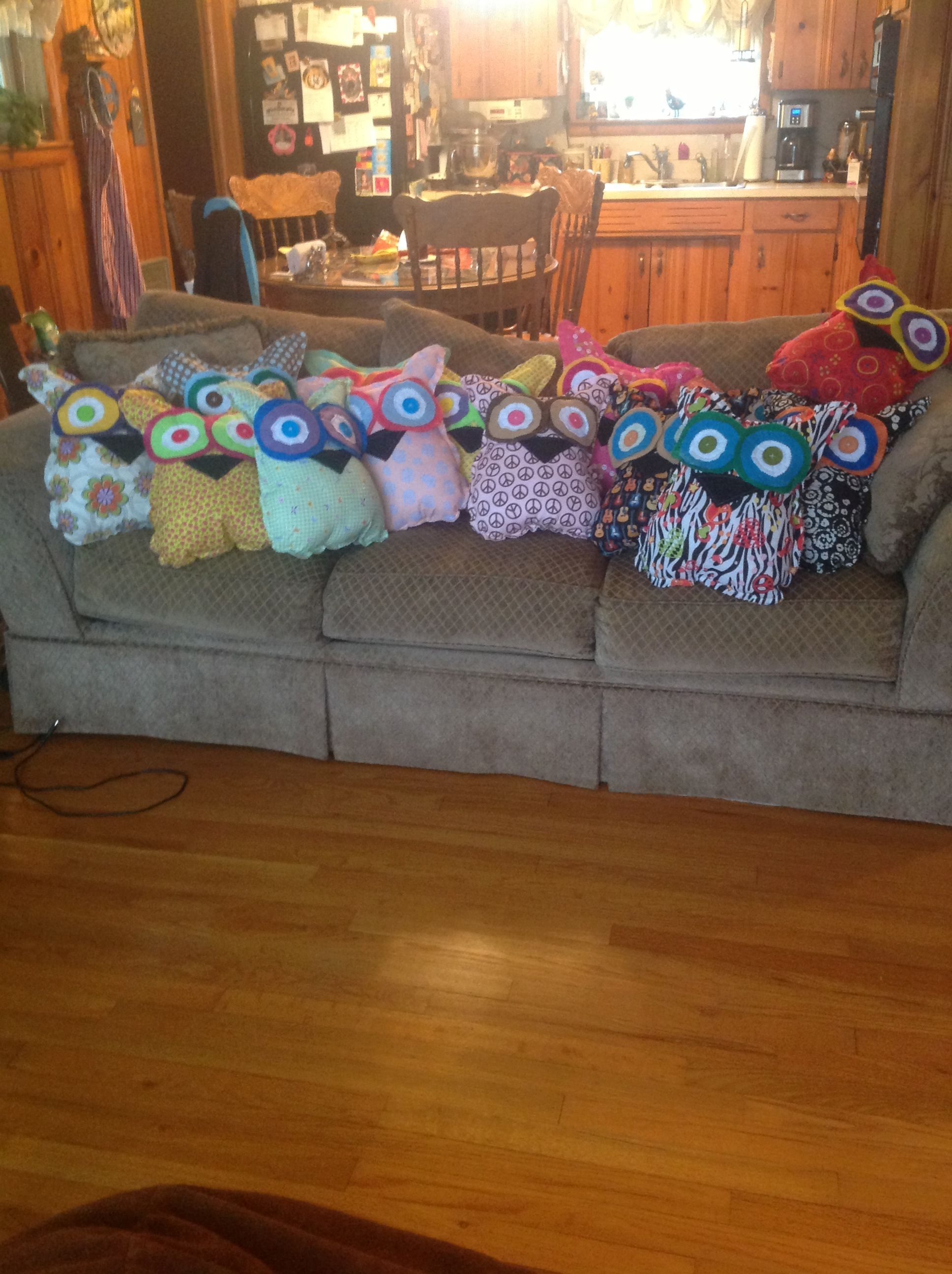 Owl pillows that I made.   Owl pillow, Pillows, Decor