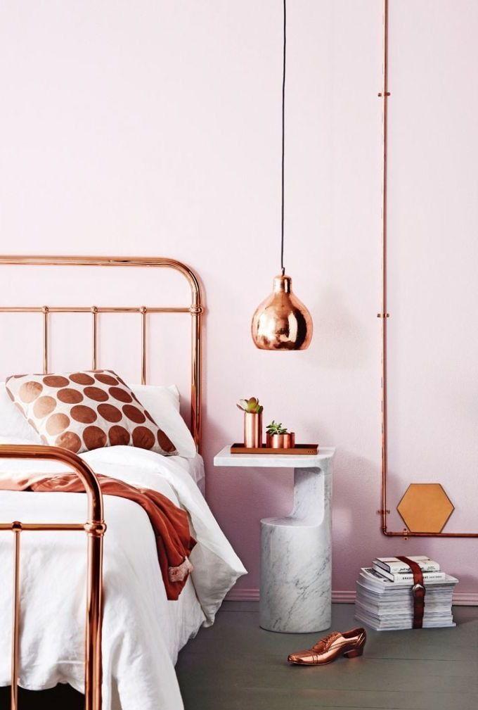 DIY Wohnideen in Kupfer Farbe und Blumenampel Anleitung! Room - bett im wohnzimmer ideen