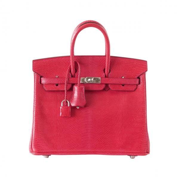 653f36748909 Hermes Birkin Bag 25cm Rouge Exotic Lizard Palladium Hardware ...