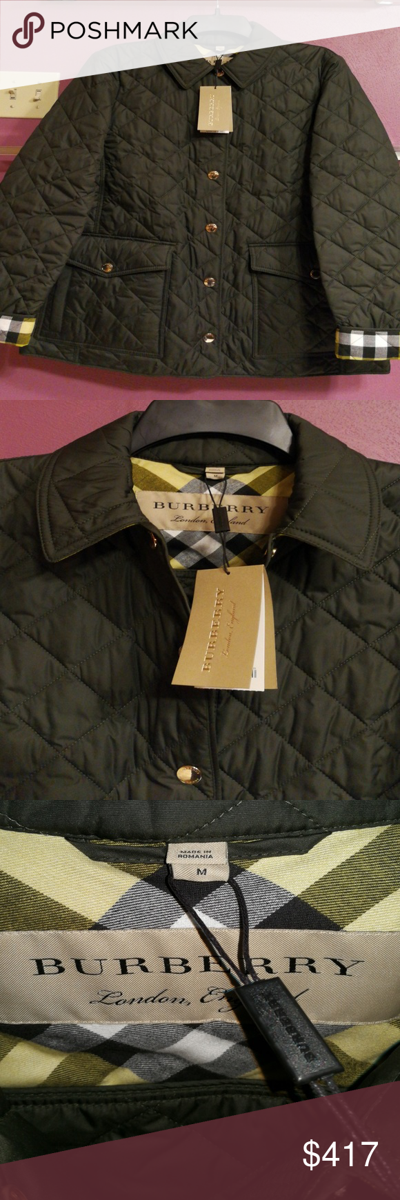Burberry Westbridge Quilt Jacket Military Green This Jacket Is Relaxed Fit So It Runs Large Burberry Jackets Fashion Clothes Design Fashion Design