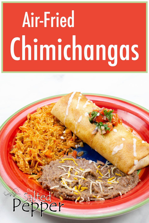 Airfried chimichanga in the ninja foodi or air fryer