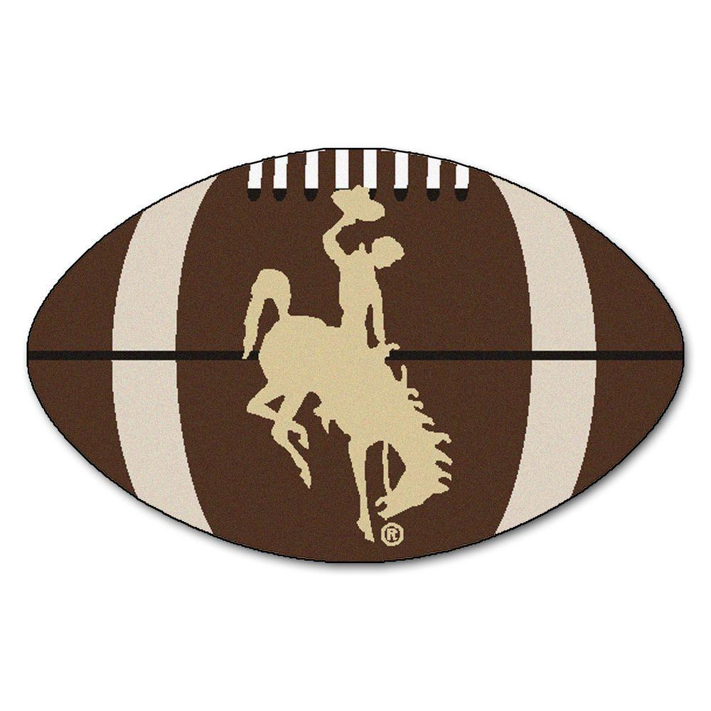 University of Wyoming Cowboys Logo Area Rug