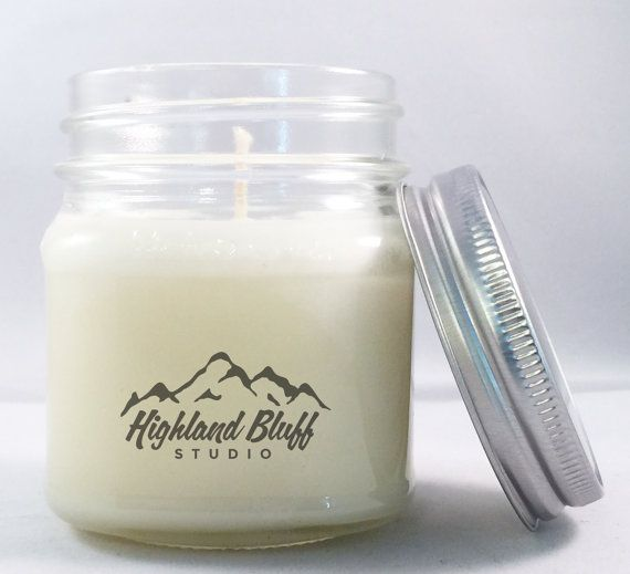 PICK TWO  Natural Soy Wax Candles with by HighlandBluffStudio
