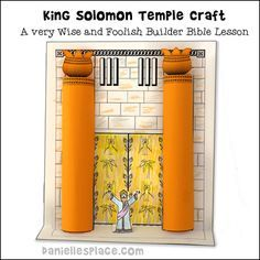 King Solomon S Temple With 3d Pillars Bible Craft For Children