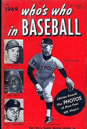 Who S Who In Baseball 1969 Sports Magazine Sports Books Baseball
