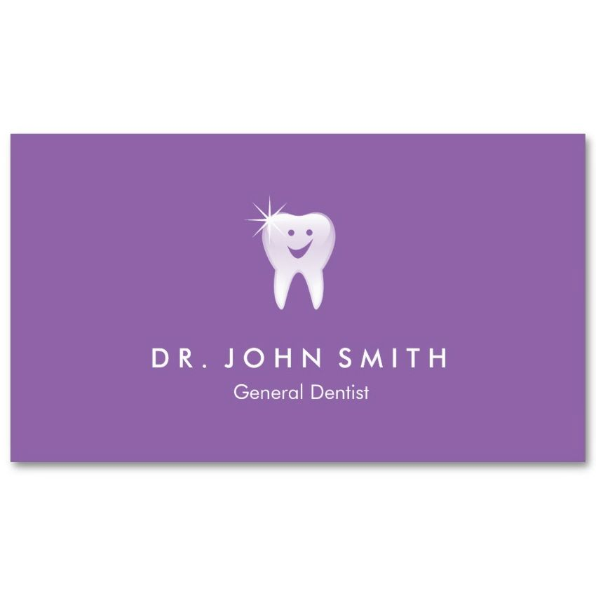 Purple dental visiting card happy shiny tooth appointment card purple dental visiting card happy shiny tooth appointment card great for dentists dental clinics dental hygienist or other dentistry related business colourmoves