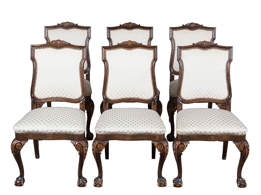 Antique Ball And Claw Foot Dining Chairs