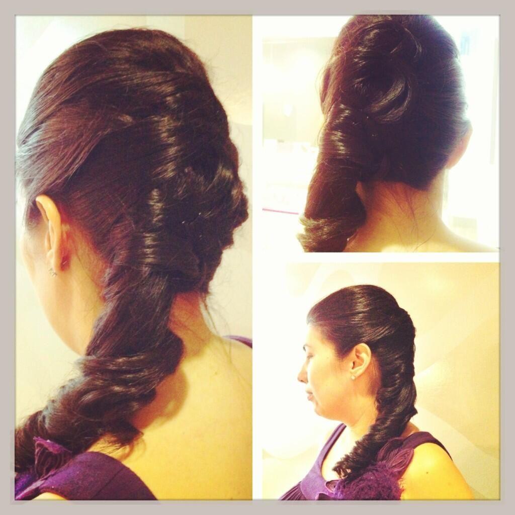 Kiko on ponytail and makeup