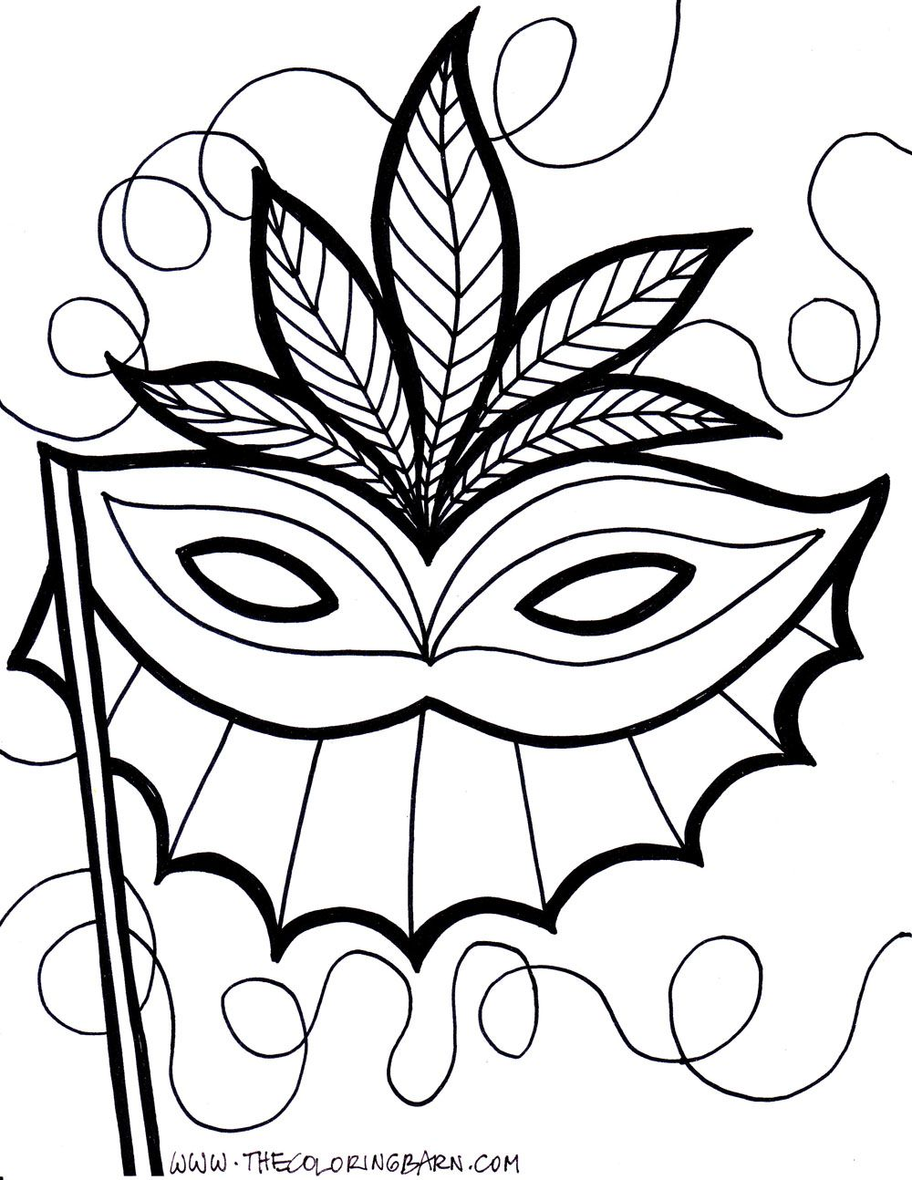 mardi gras coloring pages free printable # 1