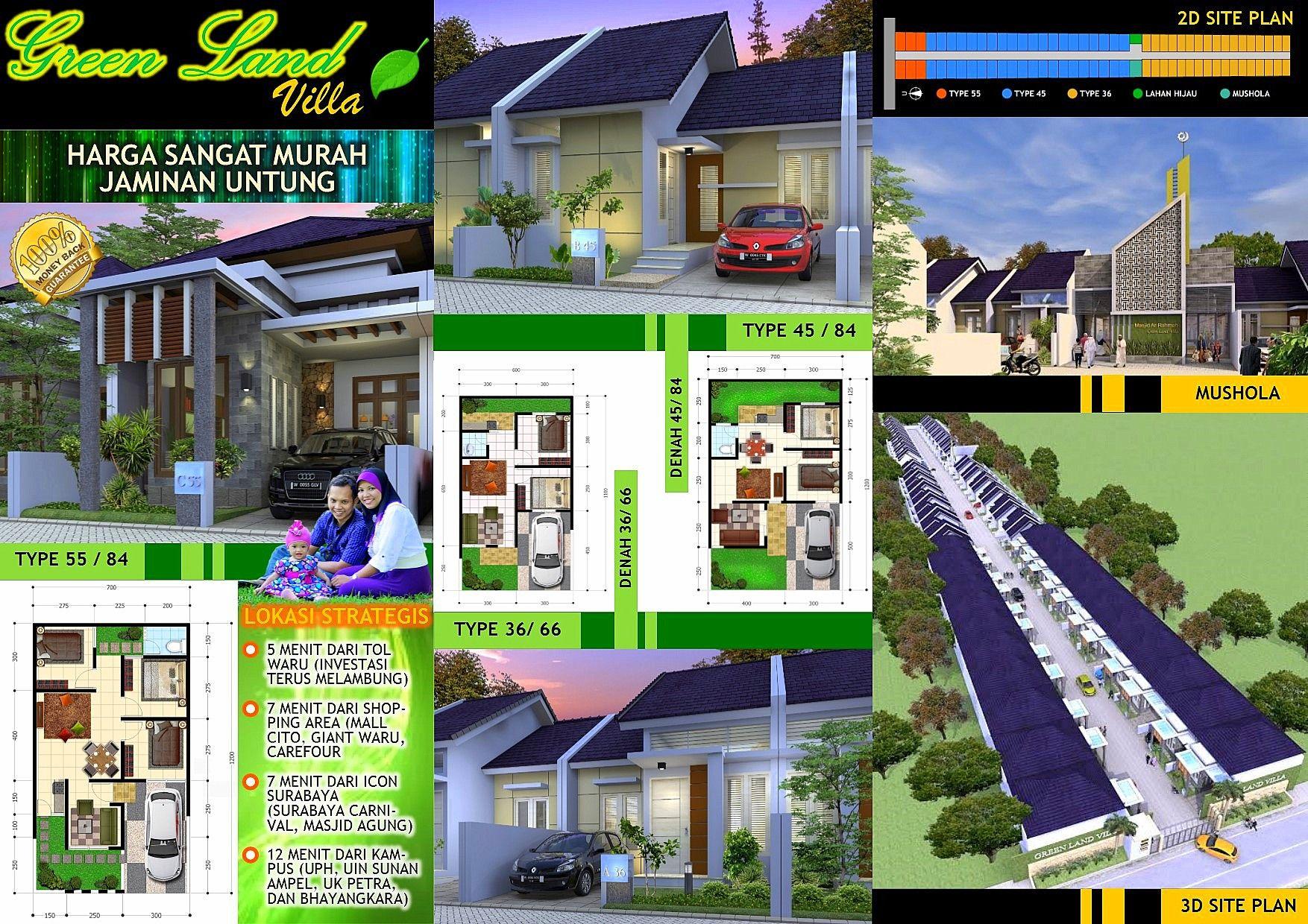Perumahan Green Land Villa Brosur Perumahan House Design