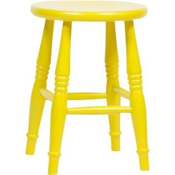 Set of 2 Commercial Grade Bottle Stools in Yellow - 45cm