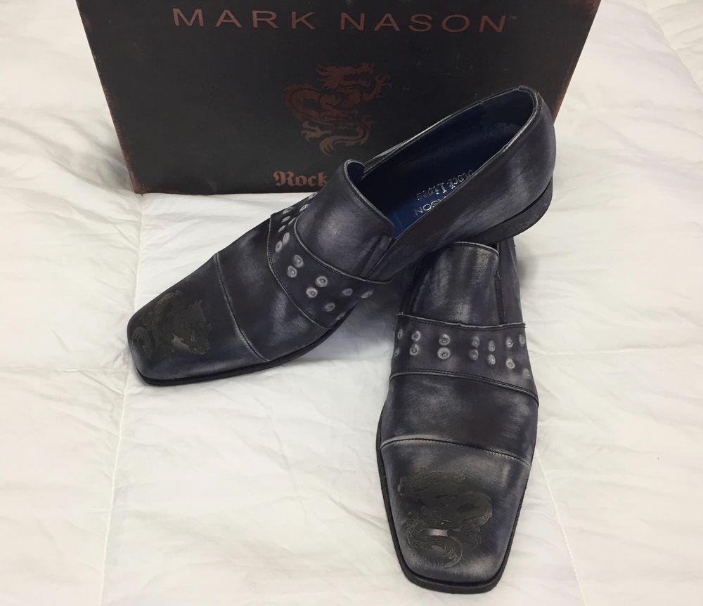 9523147151c MARK NASON BLACKBURN LEATHER DRAGON TOE LOAFERS ROCK LIVES US 14 EU 47 NEW   400