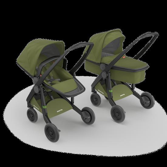 Greentom 2in1 Carrycot & Reversible Stroller Travel