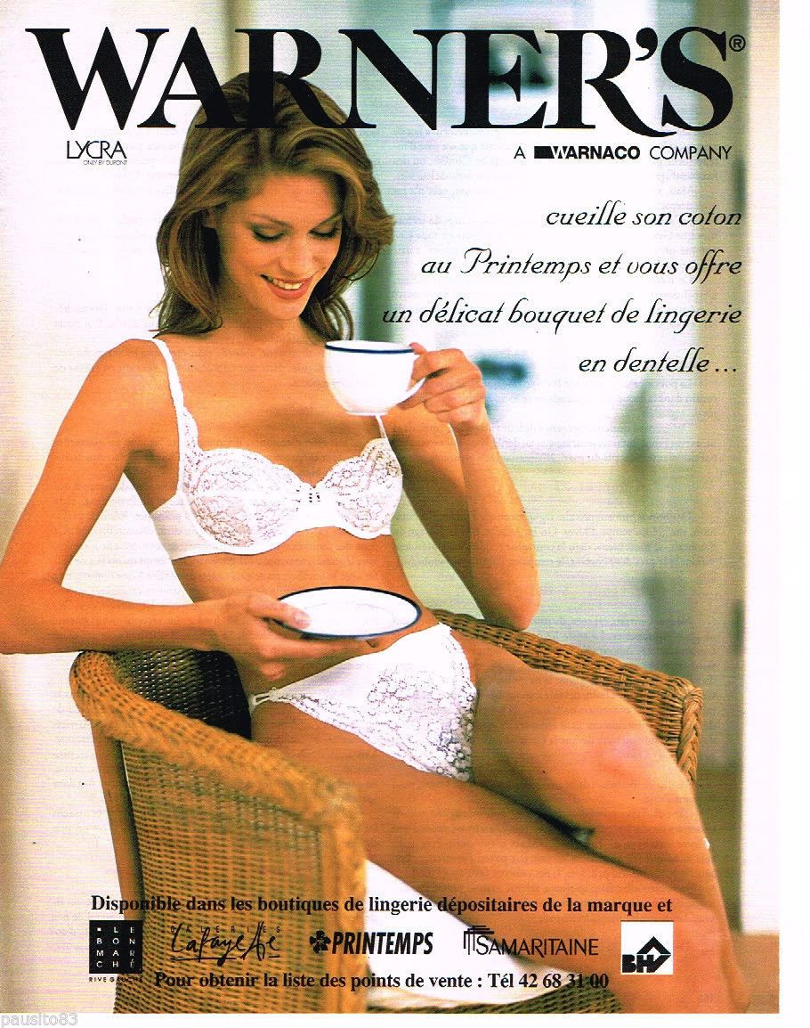 PUBLICITE ADVERTISING 085 1996 WARNER S soutien gorge sous vetements ... 7a2087d0948