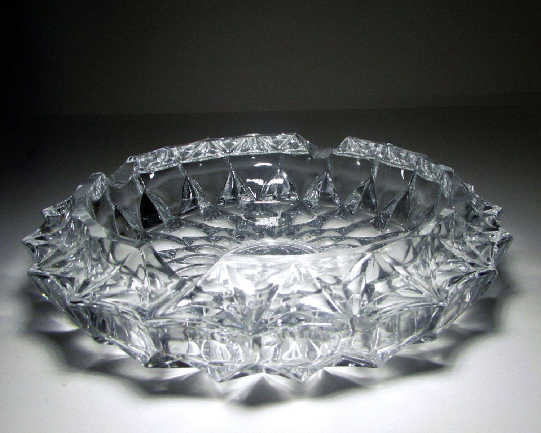 2ade0abde5f Vintage Heavy Crystal Glass Diamond Cut 7