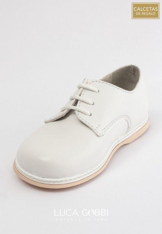 Zapatos blancos con velcro Avento infantiles KjGosl7b