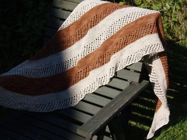Lankaterapiaa: Lampaalta tuoksuva huivi - Stella shawl by Janina Kallio