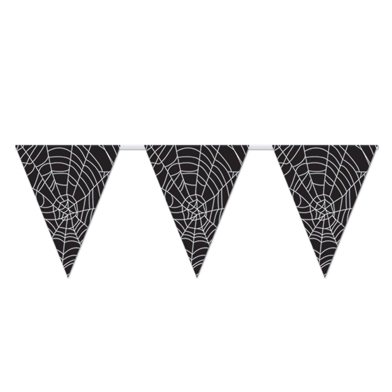 Spider Web Pennant Banner 11 X 12 A Fantastic Halloween