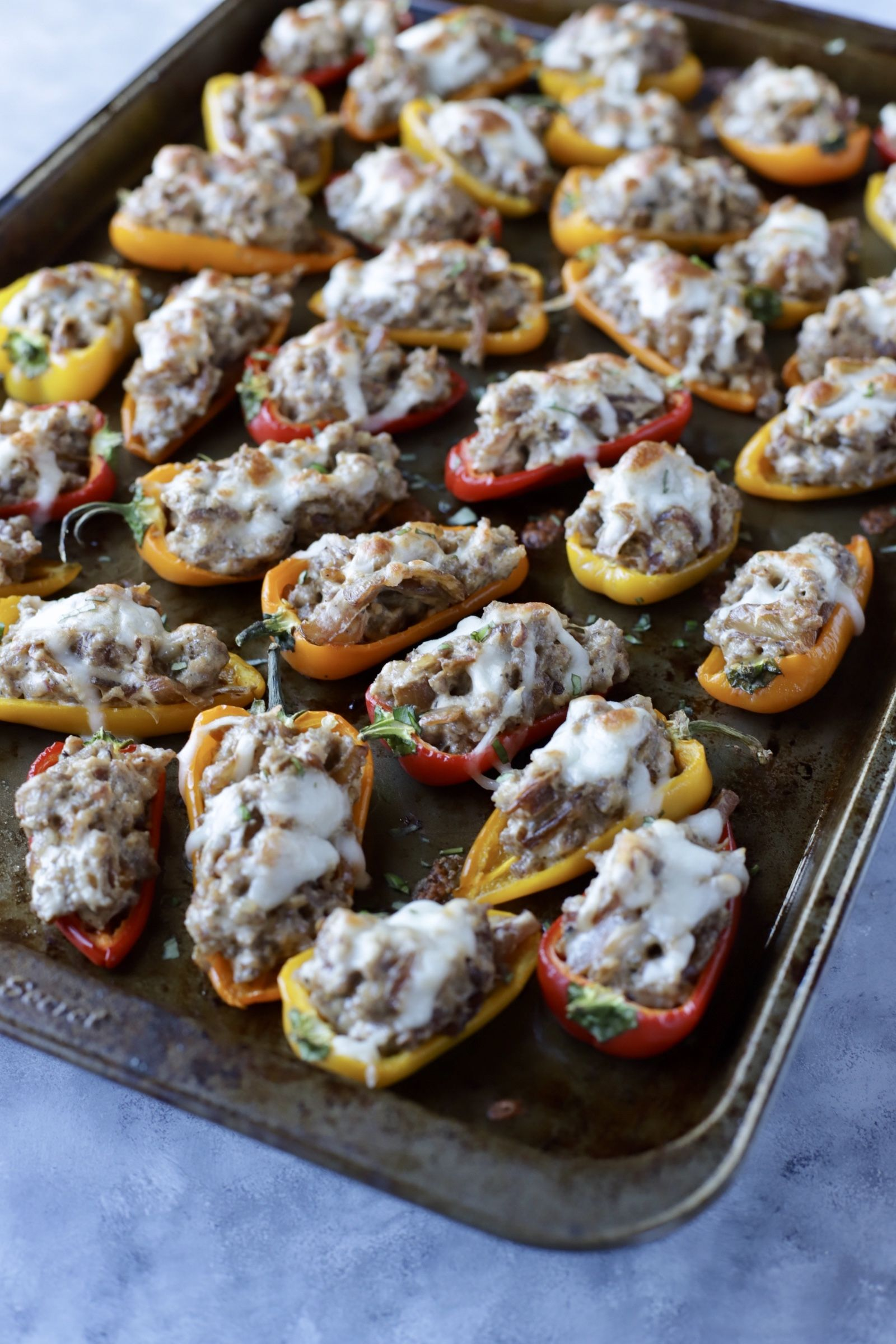 Sausage Caramelized Onion Cream Cheese Stuffed Peppers Recipe With Images Stuffed Peppers Cream Cheese Stuffed Peppers Caramelized Onions