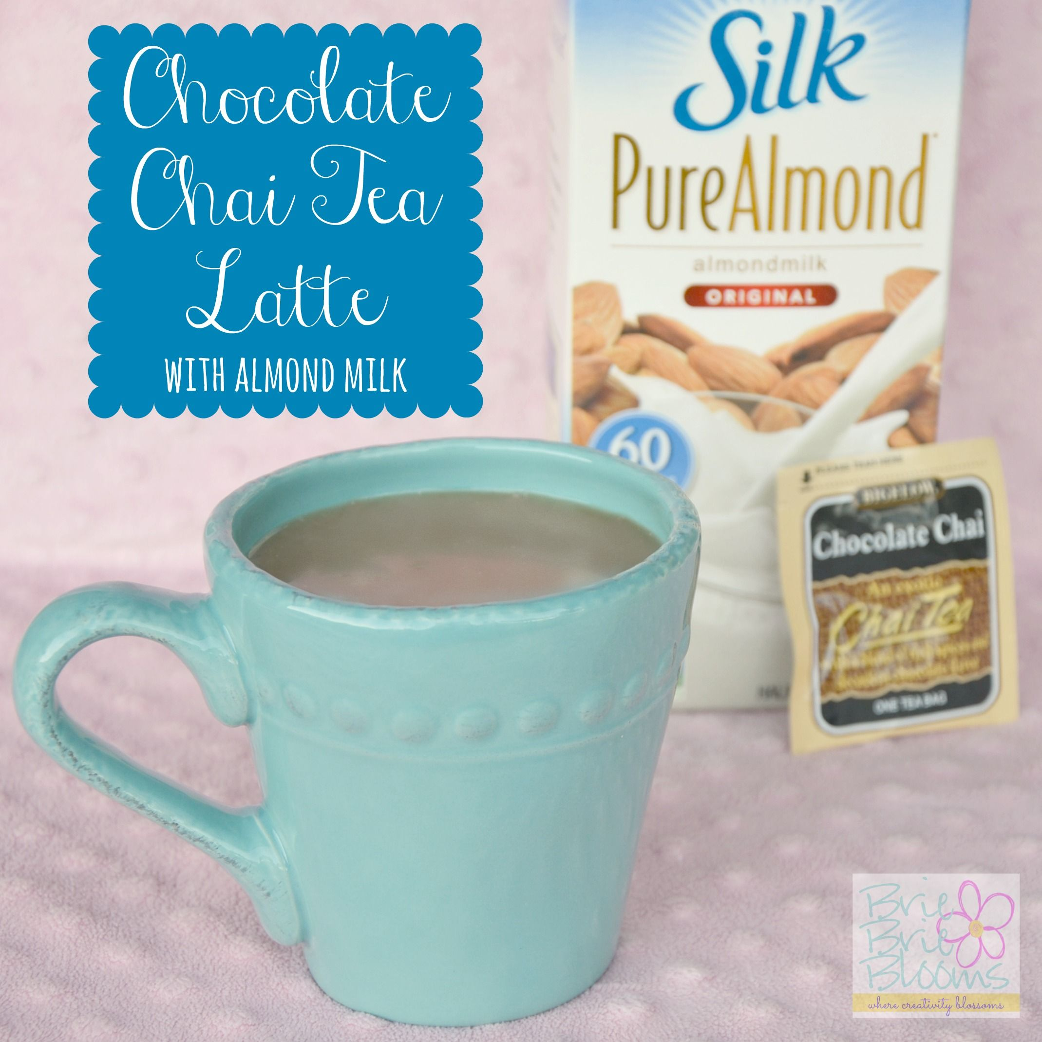 Chocolate Chai Tea Latte with Almond Milk Recipe Drink