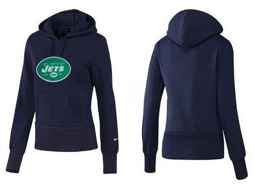 Nice Women's New York Jets Logo Pullover Hoodie Blue | NFL Women JERSEYS  hot sale