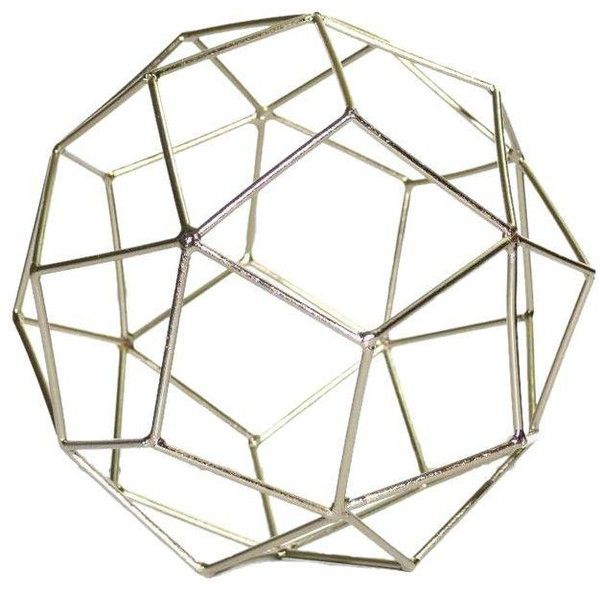 Contemporary Gold Geo Figurine Metal Tabletop Décor ($28) ❤ liked