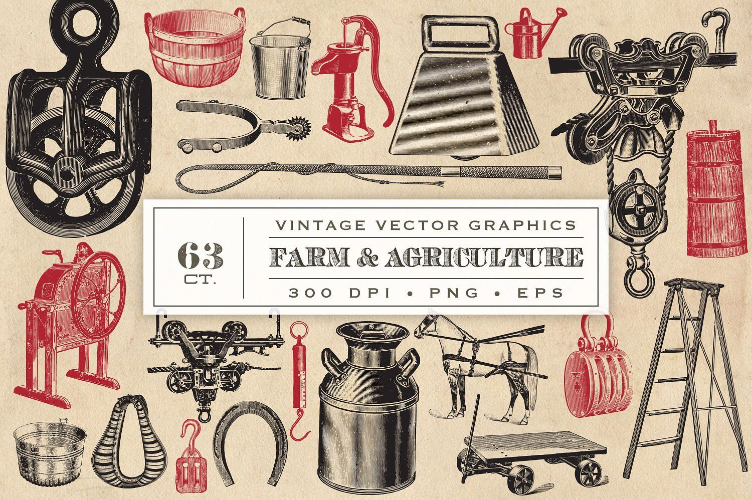 Farm & Agriculture Vector Graphics by Eclectic Anthology