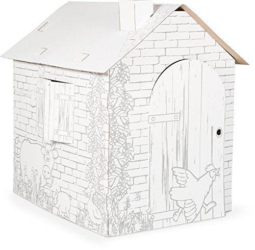 Small Foot - 10015 - Maison de jeu en carton Cabane Small   - jeux de construction de maison en d