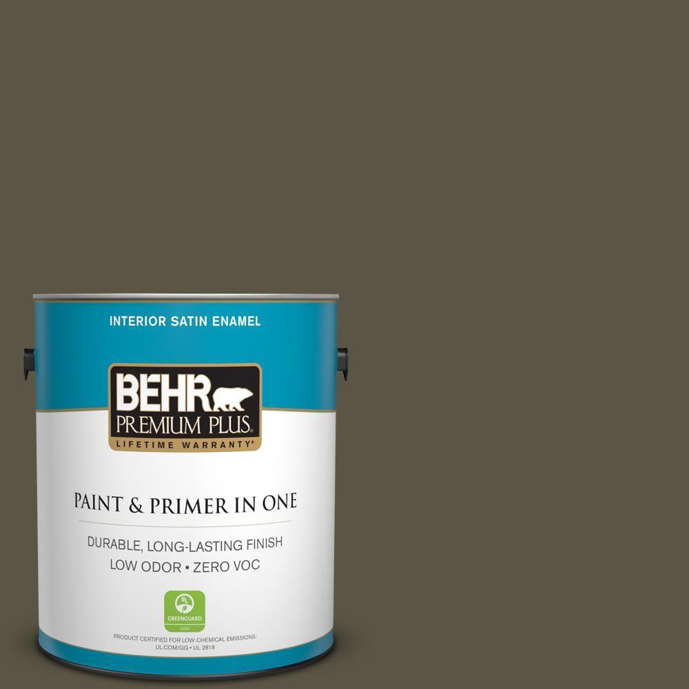 BEHR Premium Plus 1-gal. #770D-7 Wanderer Zero VOC Satin Enamel Interior Paint
