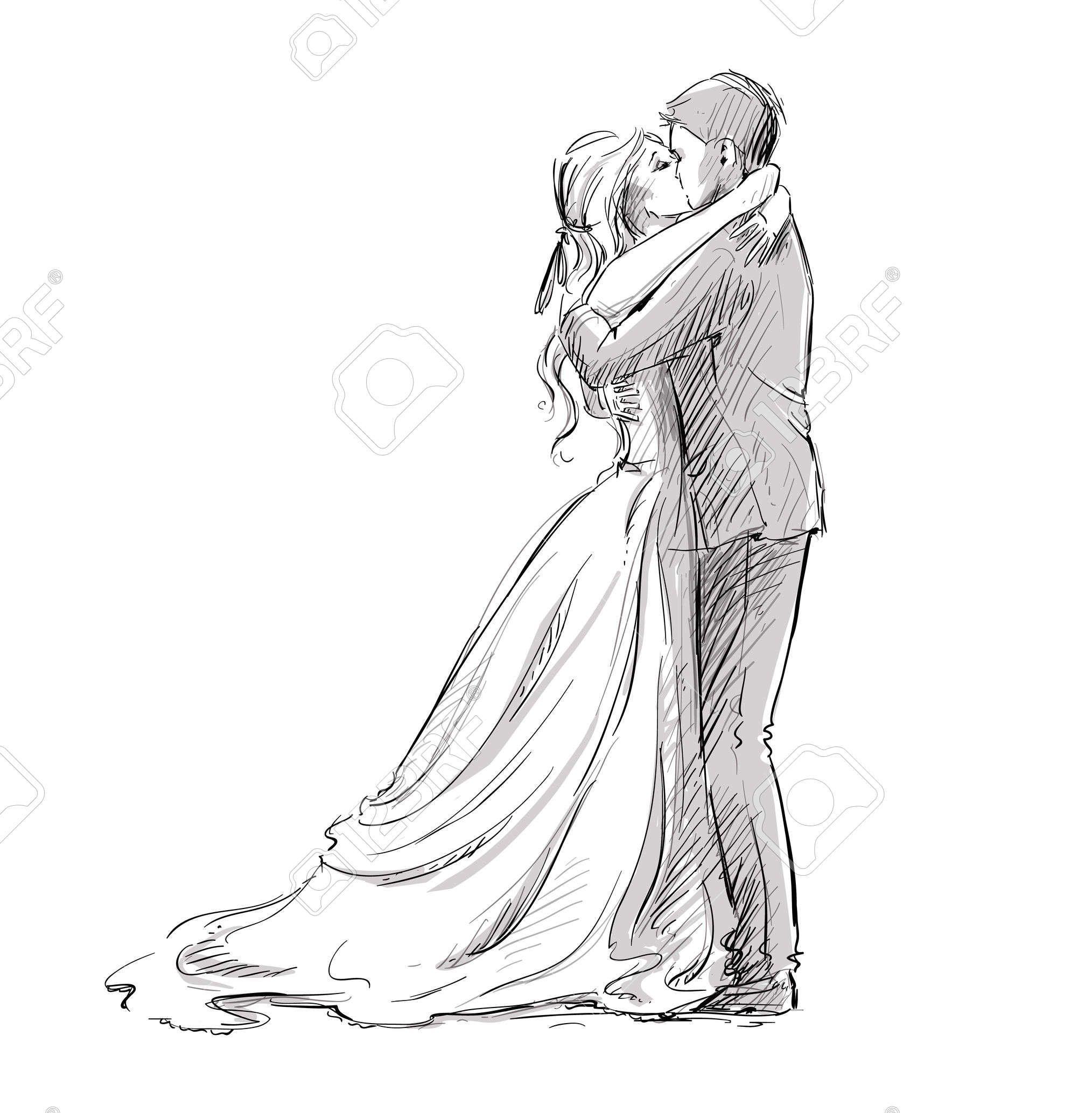 épinglé Par Marie Lise Rebeyrol Sur Paint The Canvas Croquis Couple Mariage Dessin Mariage Illustration