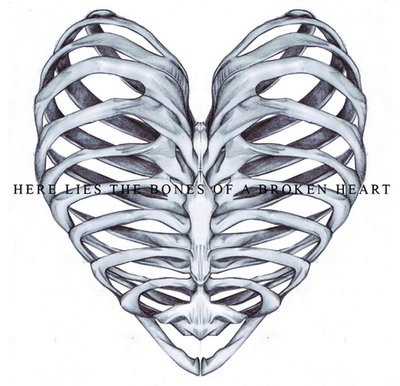 Ribcage Heart Cage Tattoos Tattoos Heart Illustration