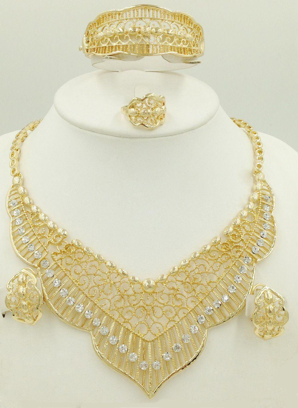 Dubai Gold Plated Jewelry Sets | Women\'s Fine Jewelry Sets ...