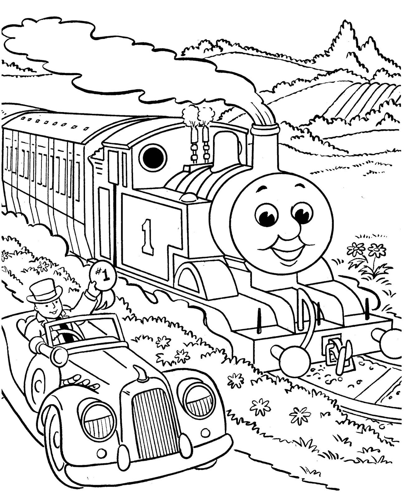 Free Printable Coloring Pages For All Ages Train Coloring Pages