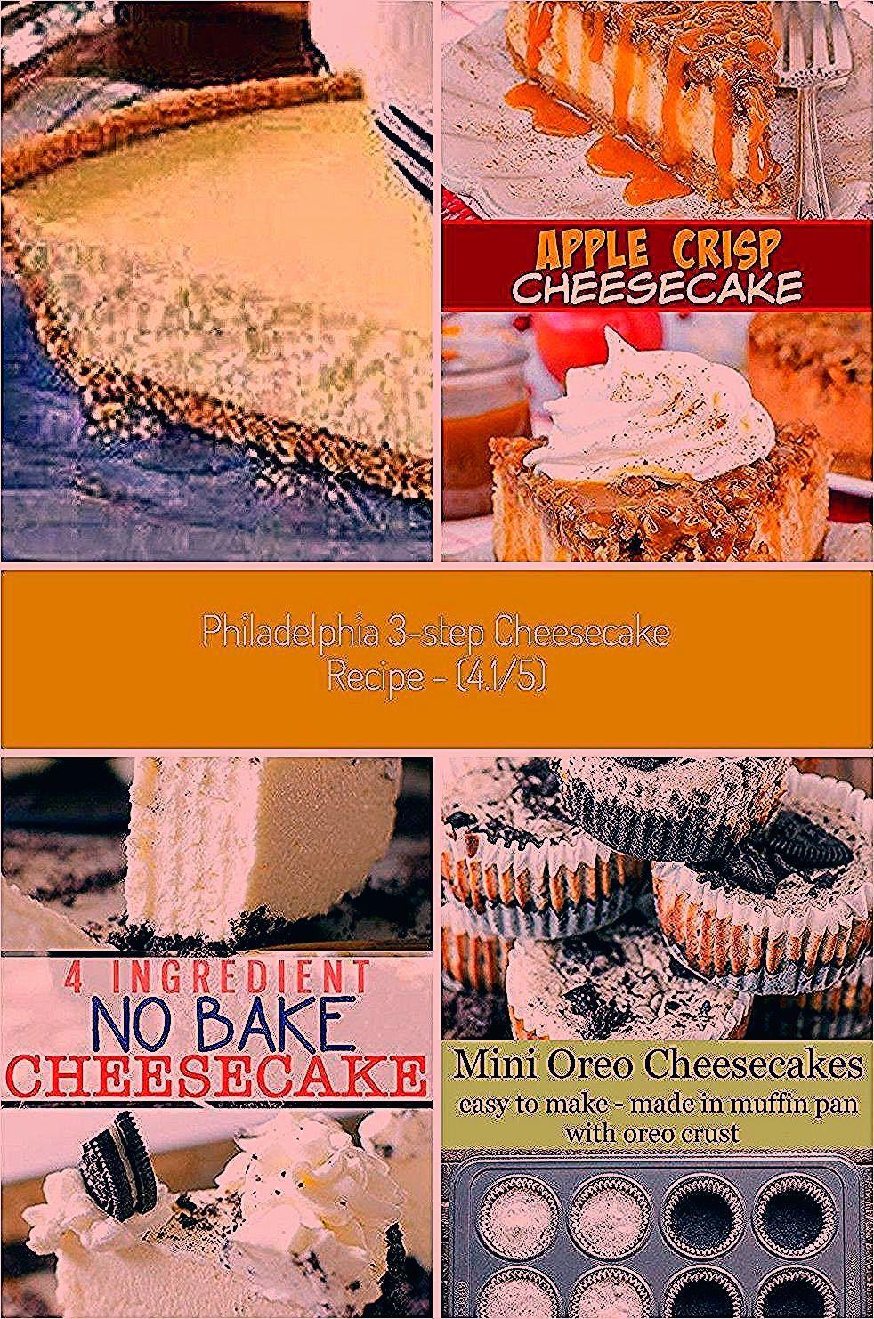 Philadelphia 3 Step Cheesecake @keyingredient recipes easy Philadelphia 3-Step Cheesecake Recipe -