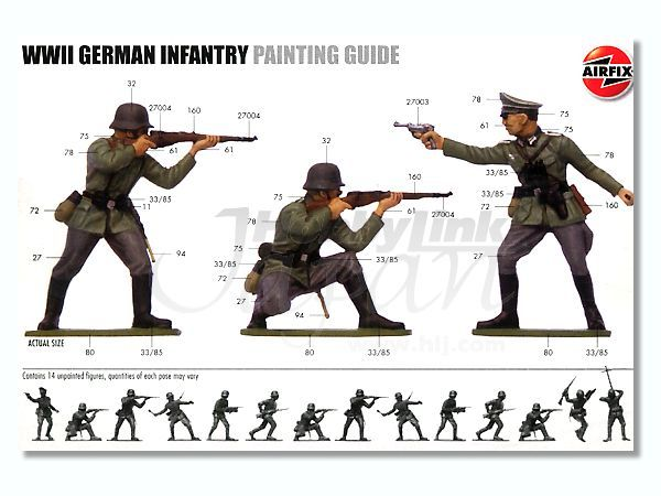 Painting Guide From An Old Airfix Kit Toys And Miniatures I Like