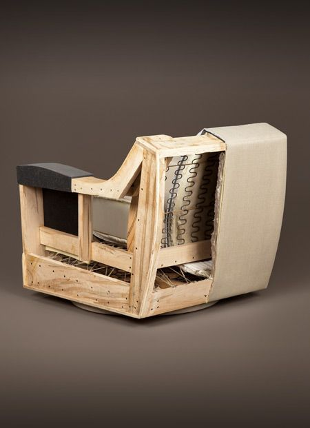 The inside of a HOLLY HUNT Lounge Chair