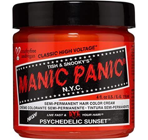 Manic Panic Hair Dye Classic Cream Color Psychedelic Sunset Orange Semi Permanent Formula by Manic Panic BEAUTY Gallery