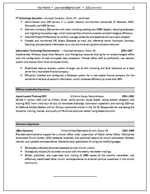 Federal Resume Format 2014    wwwfederalresumewritersnet - military trainer sample resume