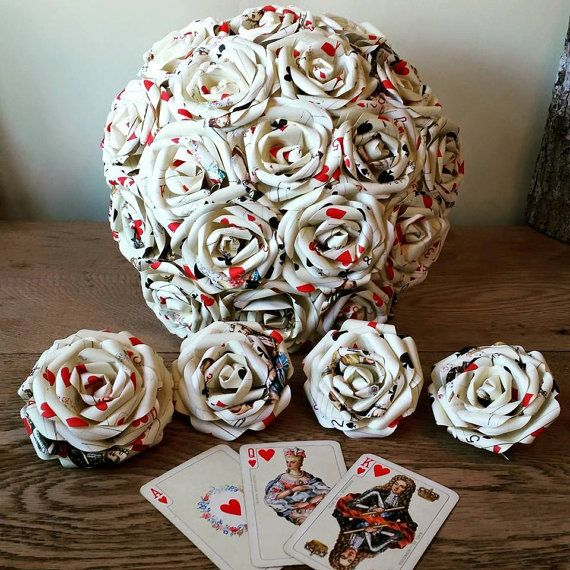 Playing Card Alice In Wonderland Theme Paper Flower