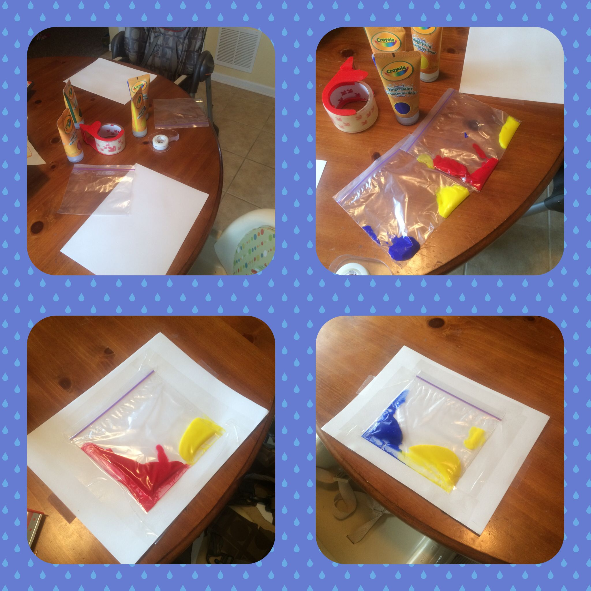 ZIPLOCK BAG MESS FREE PAINT!! Toddler art, Projects, Decor