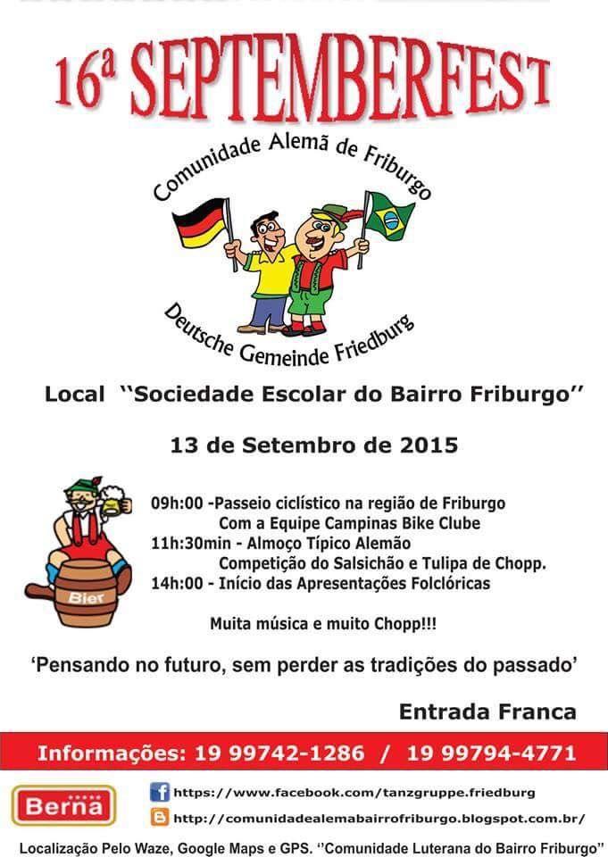 SOCIAIS CULTURAIS E ETC.  BOANERGES GONÇALVES: FRIBURGO - 16a SEPTEMBERFEST - 13-09-2015