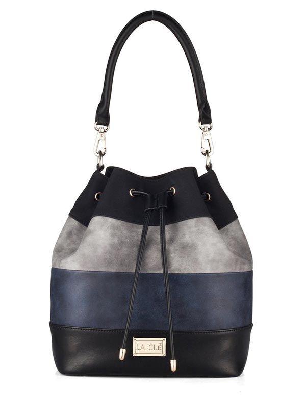ddb51ae7935 La Clé Color-Block Bucket Bag   Bags Under $100   Leather handbags ...
