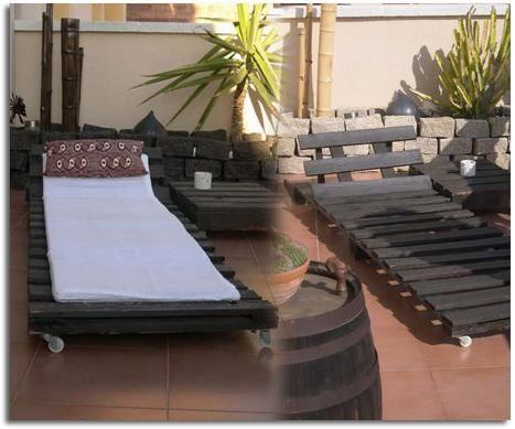 muebles para terraza y jardín realizados con palets ideas jardin