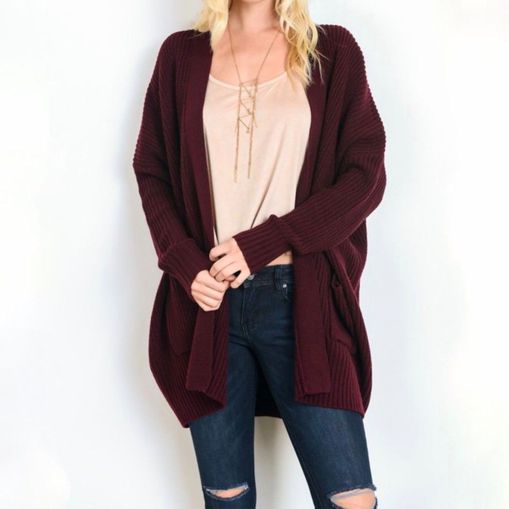 Southern comfort open knit cardigan - burgundy | Southern comfort ...